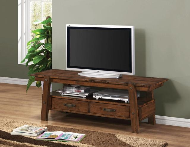 Coaster | Lawson Rustic Oak Tv Stand  $ (Image 6 of 20)