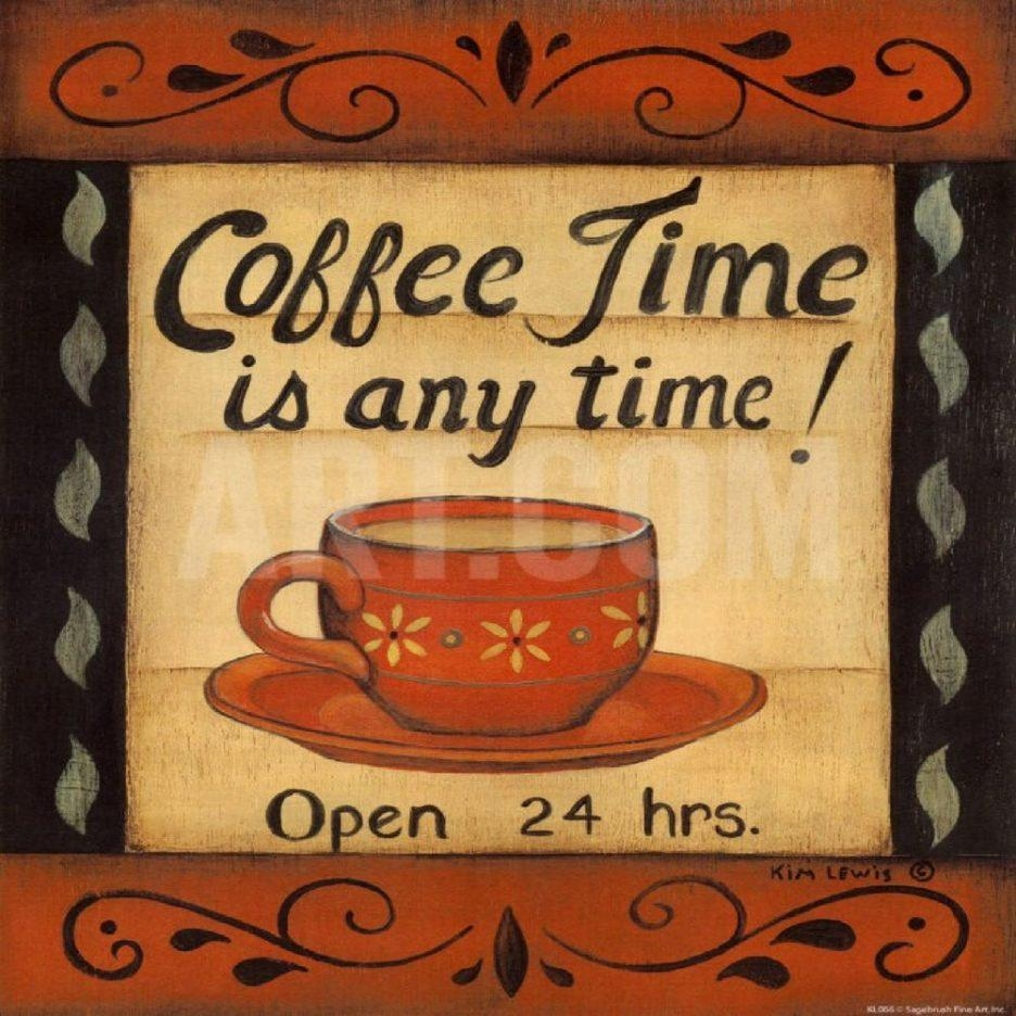 Coffee Kitchen Towels Metal Coffee Cup Wall Art Dollar Store With Metal Wall Art Coffee Theme (View 13 of 20)
