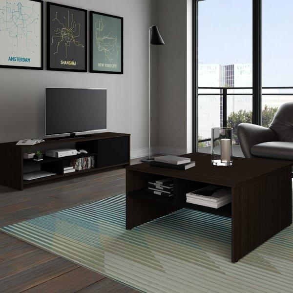 Coffee Table And Tv Stand Set | Wayfair Within Most Popular Tv Unit And Coffee Table Sets (Image 5 of 20)