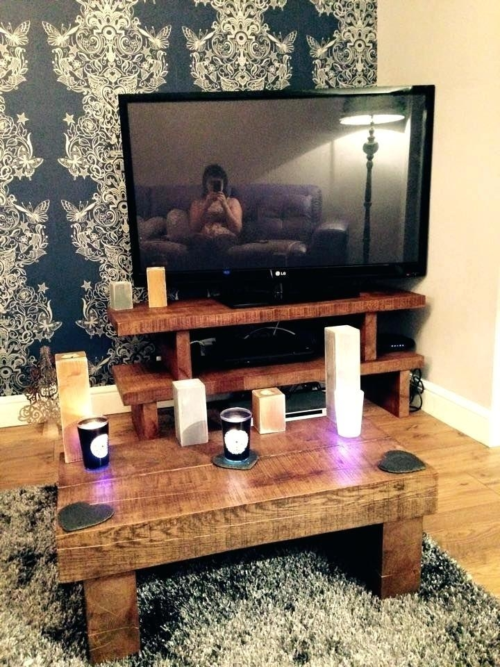 Coffee Table : Coffee Table Customer Order Solid Oak Tv Stand With Regard To Most Up To Date Coffee Tables And Tv Stands Matching (Image 3 of 20)