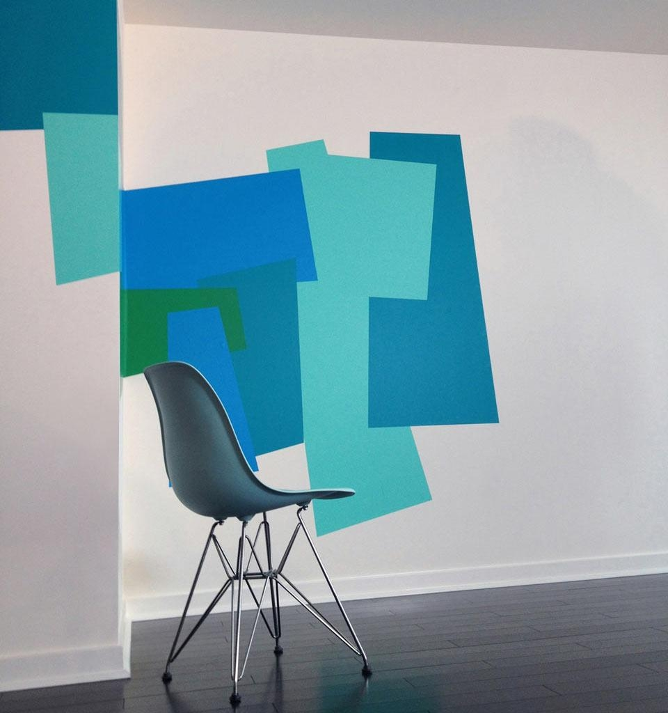 Color Blocking Wall Decalsmina Javid For Blik – Design Milk Pertaining To Blik Wall Art (View 6 of 20)