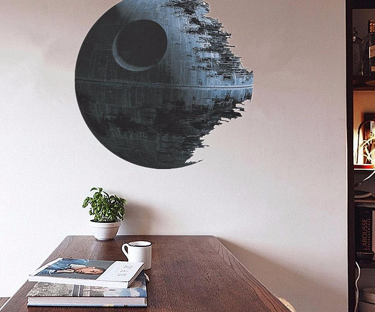 Comely Death Star Wars Wall Stickers Cm Removable Death Star Wars Throughout Diy Star Wars Wall Art (Image 6 of 20)