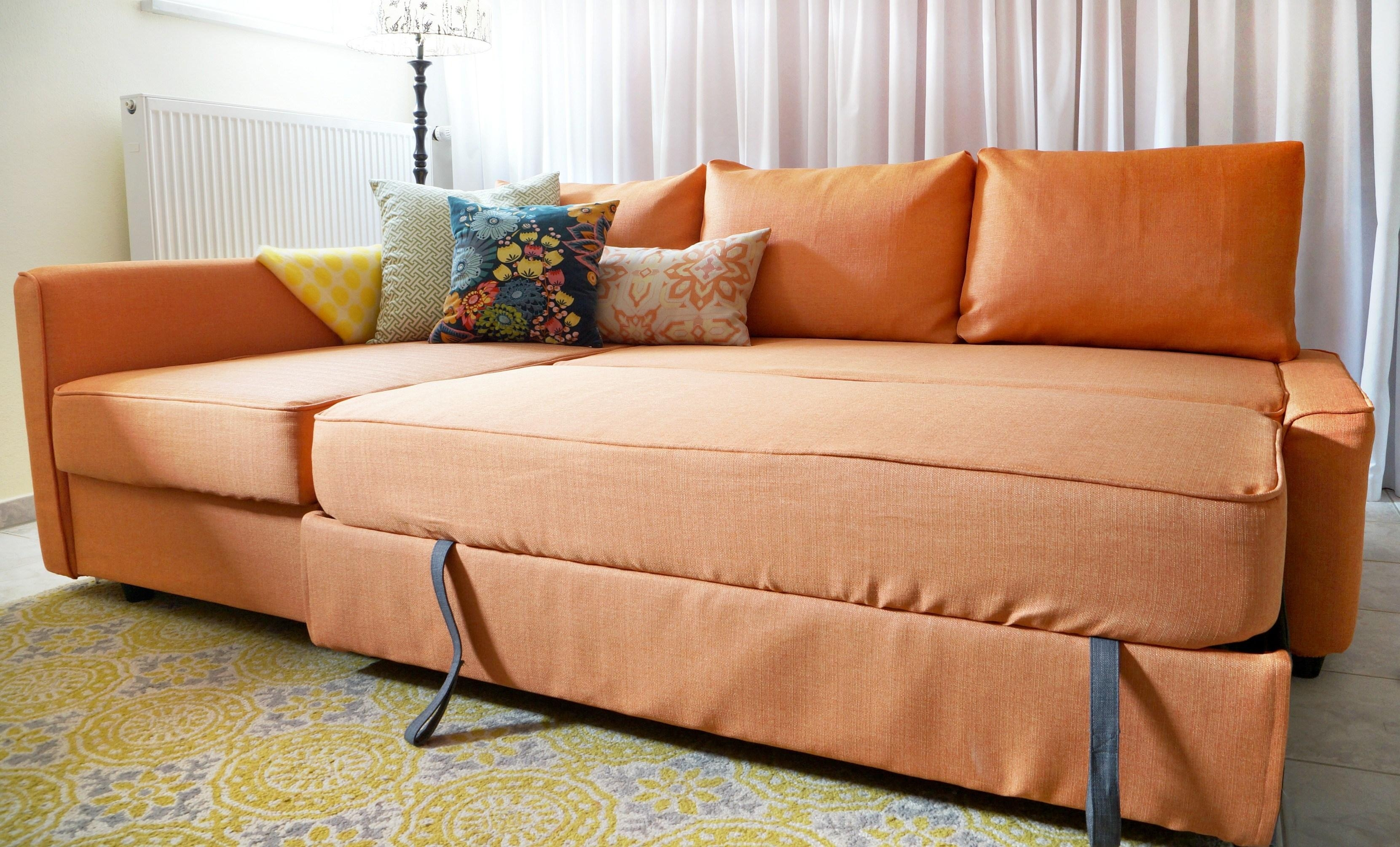 Comfort Works Friheten Slipcover Review Inside Orange Ikea Sofas (View 15 of 20)
