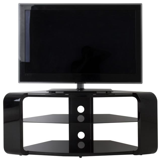 "Como Tv Stand, Tvs Up To 55"", Gloss Black – Contemporary In Current Como Tv Stands (Image 6 of 20)"
