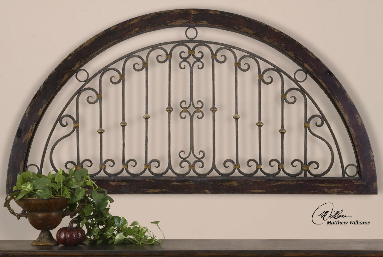 Compact Design Decor Wall Art Rustic Wood Rustic Wrought Iron Wall Inside Wood And Iron Wall Art (Image 5 of 20)