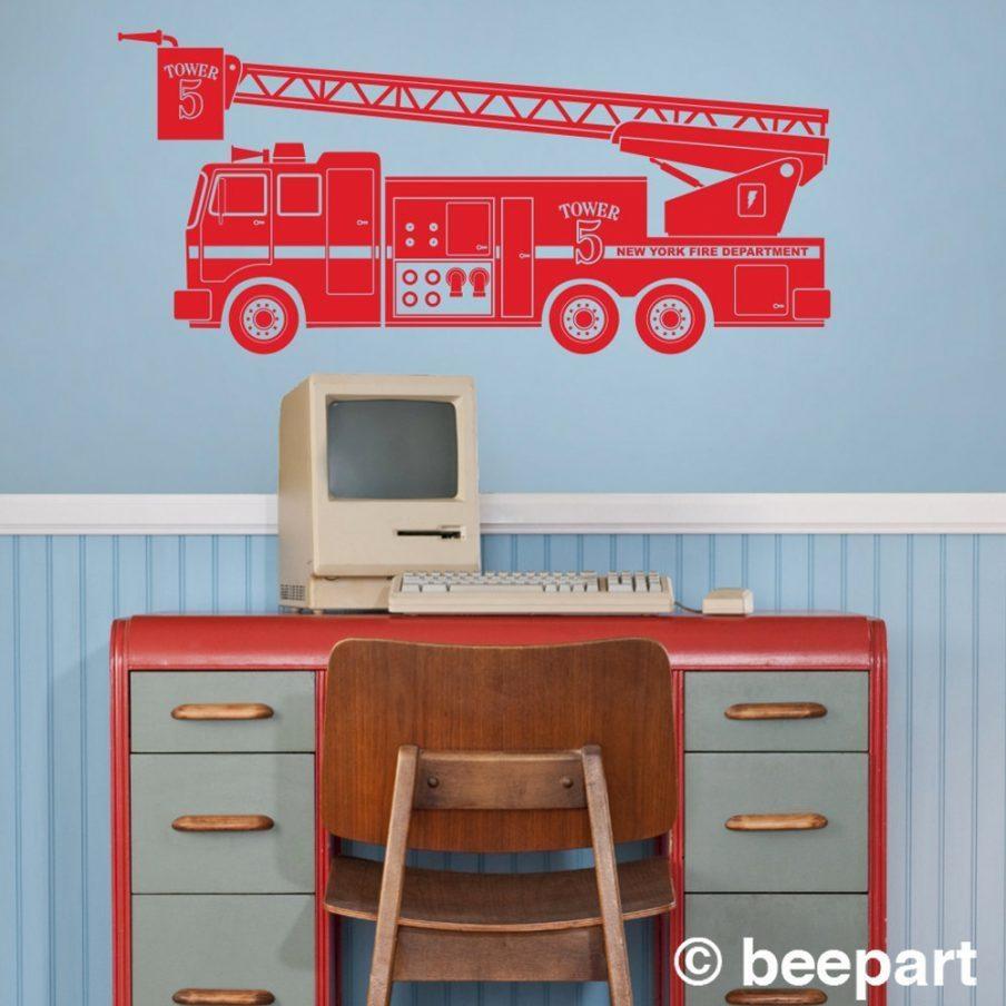 Compact Fire Truck Nursery Wall Art Fire Engine Wall Design Fire In Fire Truck Wall Art (Image 5 of 20)