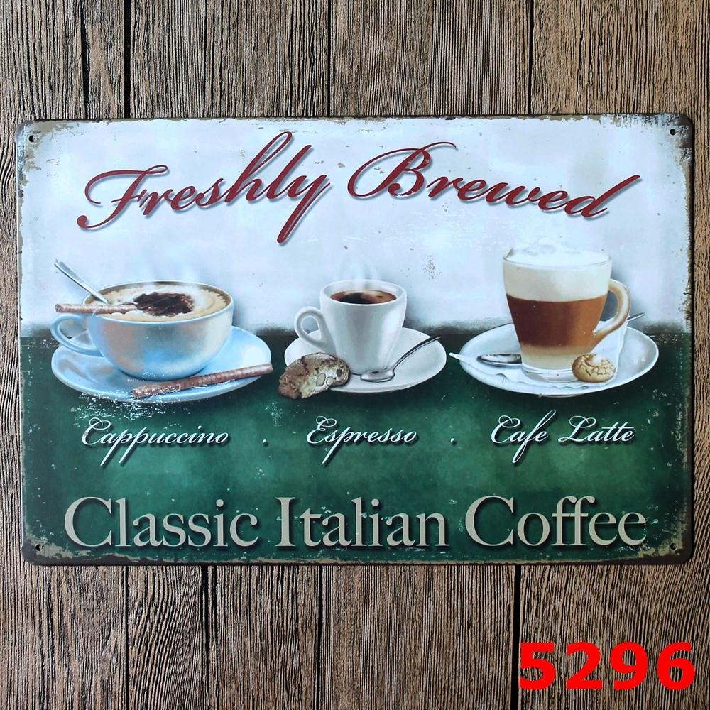 Compare Prices On Art Of Brewing  Online Shopping/buy Low Price Regarding Italian Coffee Wall Art (Image 6 of 20)