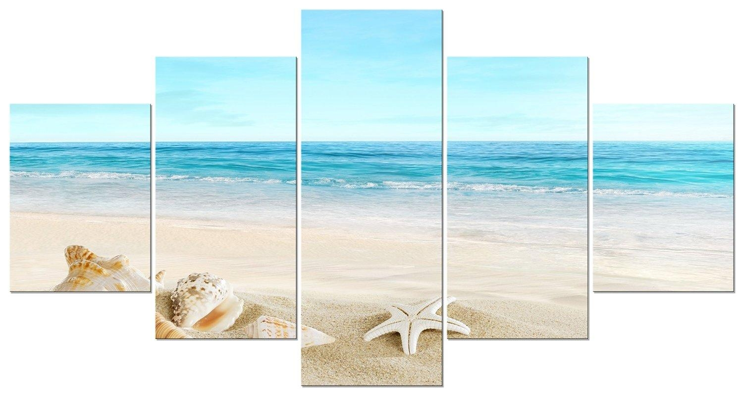 Compare Prices On Beach Canvas Wall Art  Online Shopping/buy Low Pertaining To Seashell Prints Wall Art (Image 7 of 20)
