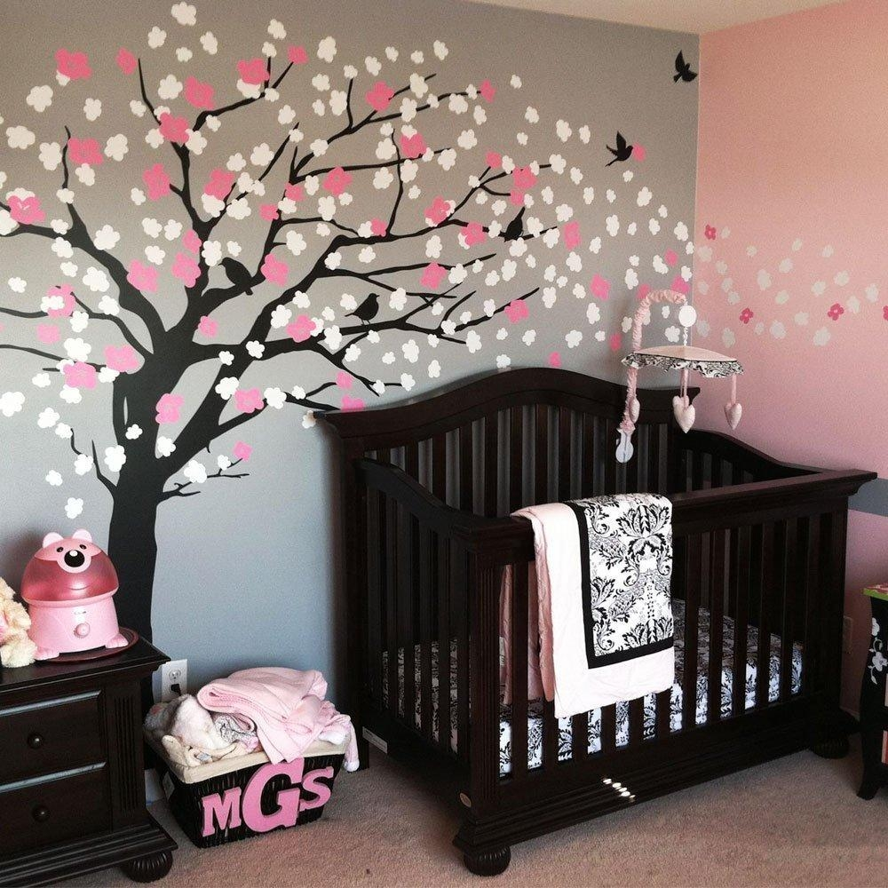 Compare Prices On Cherry Blossom Tree Wall Decal Online Shopping Inside Cherry Blossom Vinyl Wall Art (View 16 of 20)