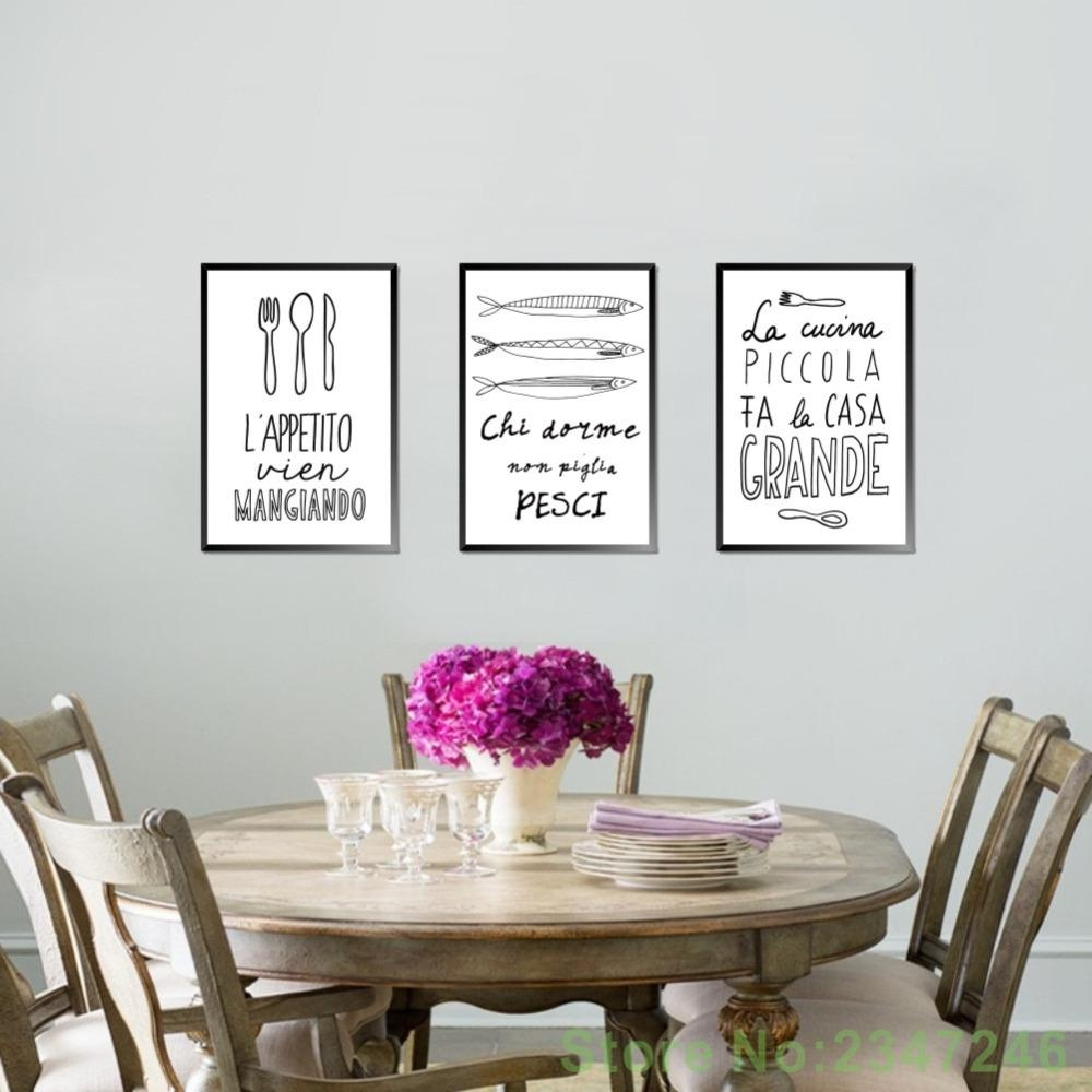 Compare Prices On Italian Quotes  Online Shopping/buy Low Price Throughout Italian Words Wall Art (Image 4 of 20)