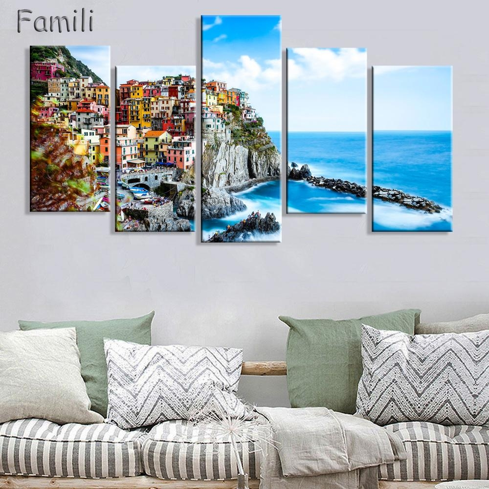 Compare Prices On Italy Canvas Wall Art Online Shopping/buy Low Intended For Italian Scenery Wall Art (View 9 of 20)
