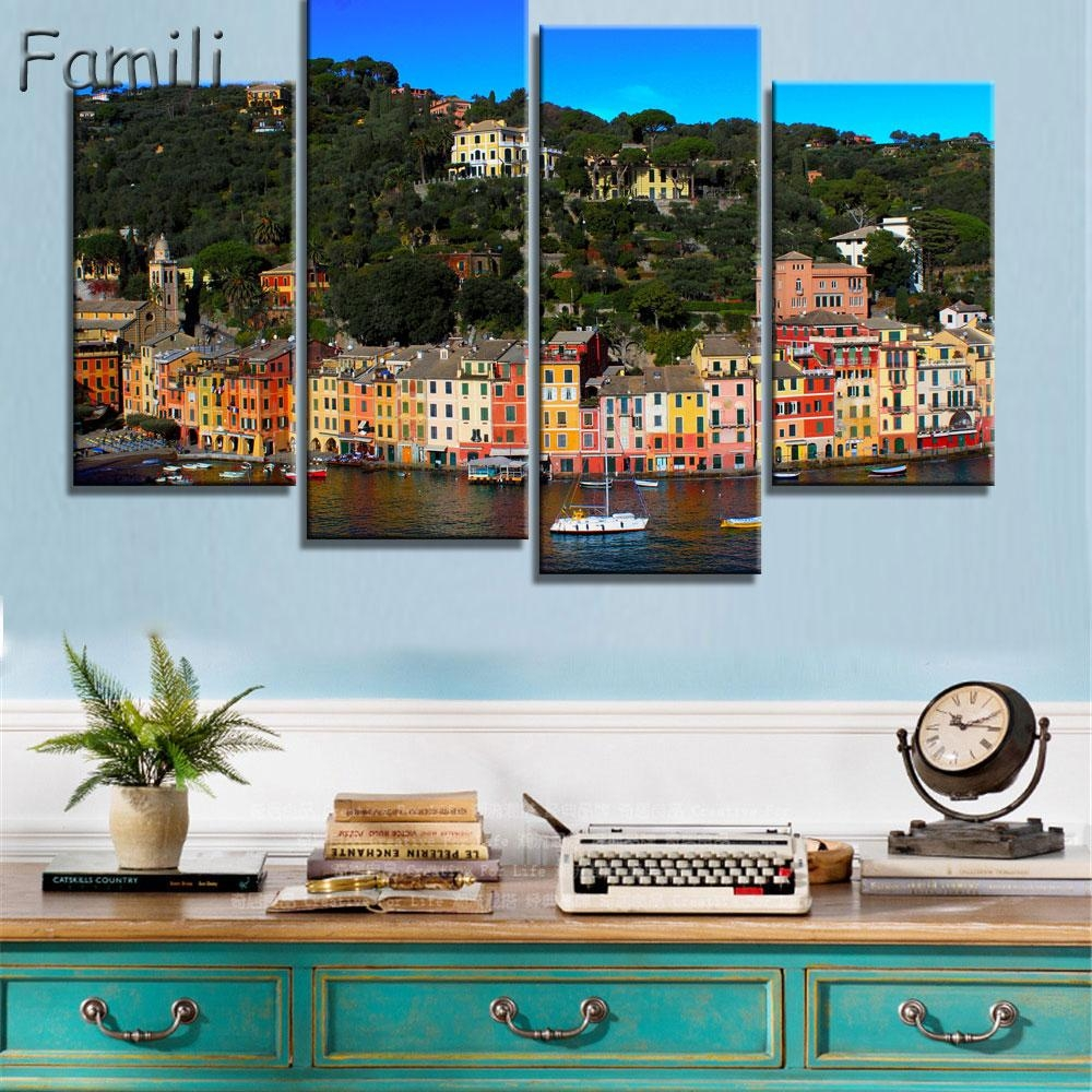 Compare Prices On Italy Wall Painting  Online Shopping/buy Low Pertaining To Italian Coast Wall Art (Image 7 of 20)