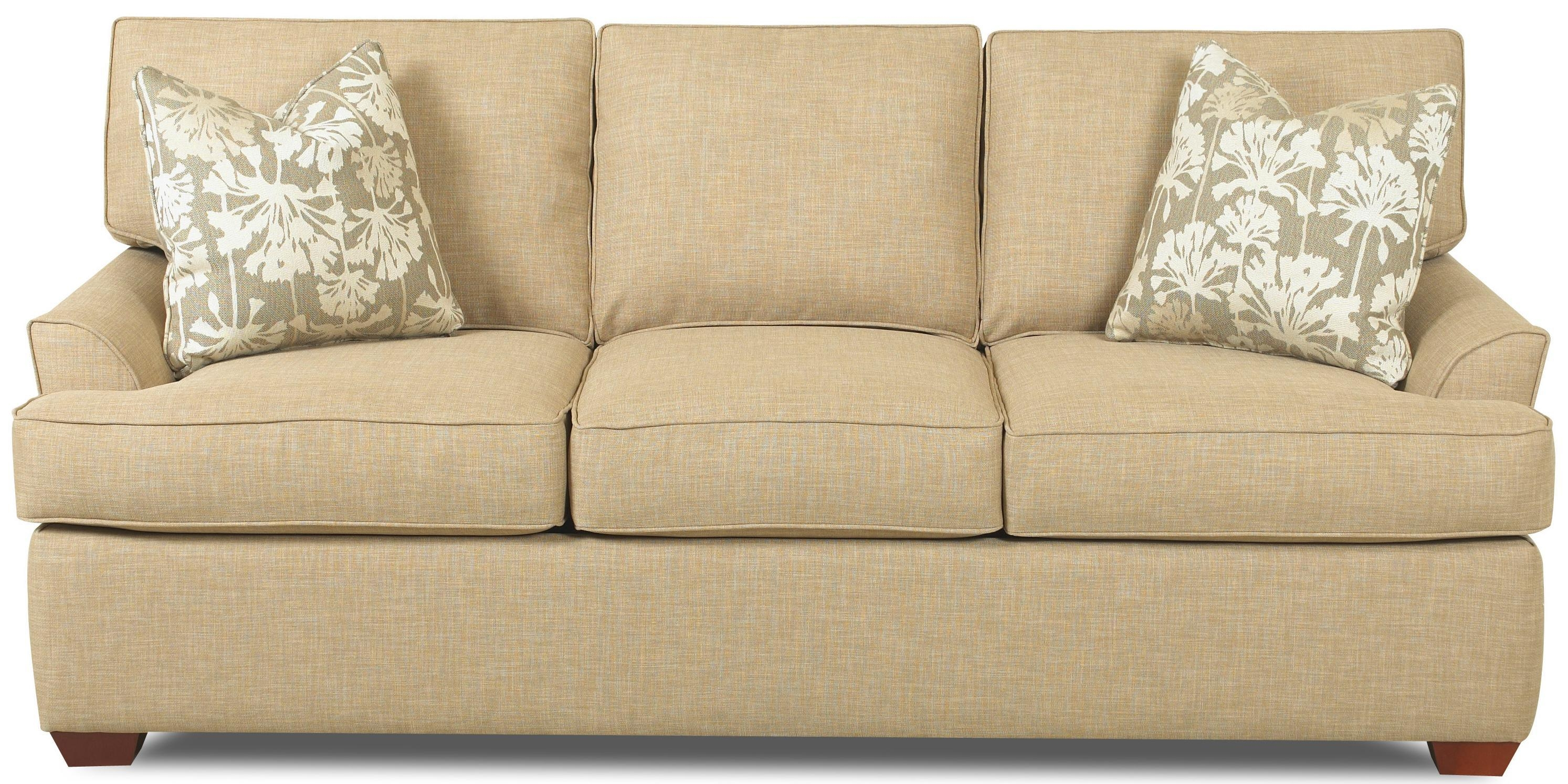 Contemporary 3 Seat Sofa With Flared Arms And T Seat Cushions Within Sofa Cushions (Image 4 of 21)