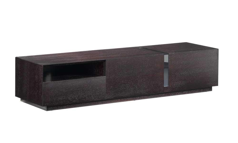 Contemporary Dark Oak Tv Stand, J&m Furniture – Modern Manhattan Throughout Latest Dark Wood Tv Cabinets (View 5 of 20)