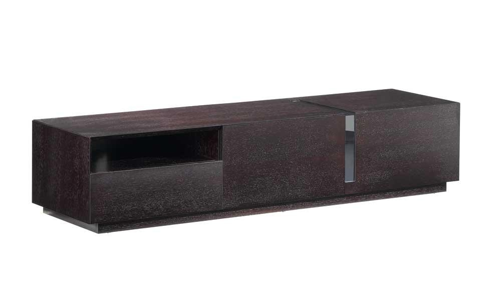Contemporary Dark Oak Tv Stand, J&m Furniture – Modern Manhattan Throughout Latest Dark Wood Tv Cabinets (Image 8 of 20)