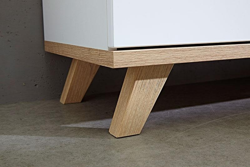 Contemporary Germania Oslo Oak And White Tv Unit With 2 Doors Regarding Recent Contemporary Oak Tv Cabinets (Image 6 of 20)