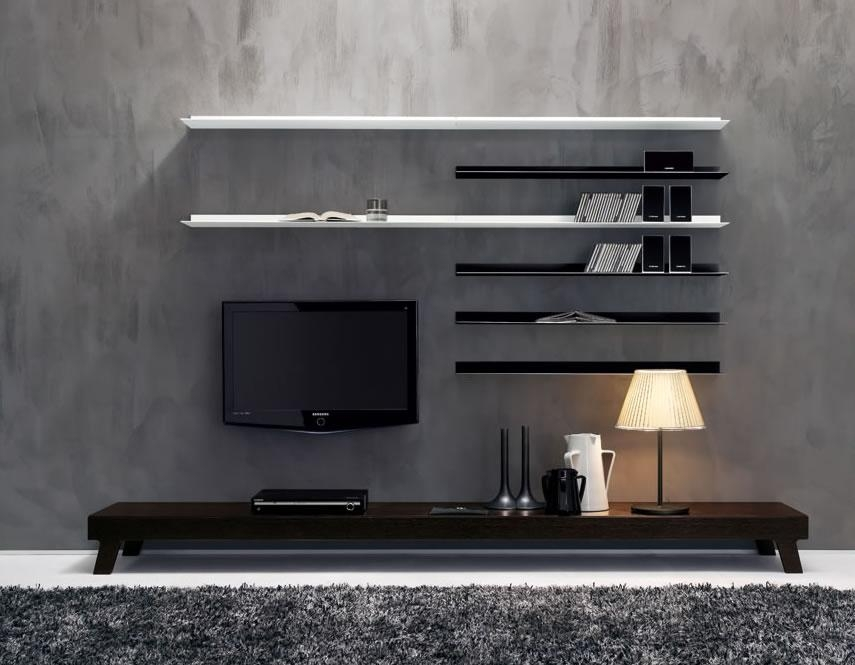 Contemporary Living Room Interior Designs Regarding Current Modern Lcd Tv Cases (Image 5 of 20)