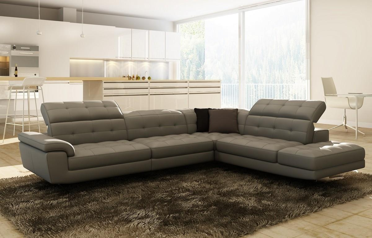 Contemporary & Luxury Furniture; Living Room, Bedroom,la Furniture Intended For Gray Leather Sectional Sofas (Image 7 of 21)