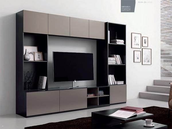 Contemporary Moon Wall Storage System With Shelving And Tv Unit Throughout Most Recently Released Tv Units With Storage (Image 9 of 20)
