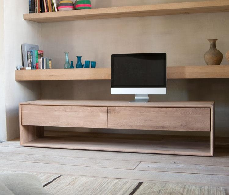 Contemporary Nordic Oak Tv Unitethnicraft | 4Living Designs Pertaining To Most Popular Contemporary Oak Tv Cabinets (Image 7 of 20)