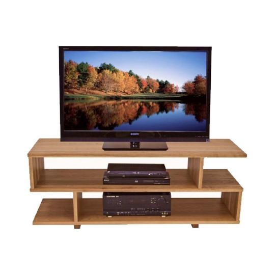 Contemporary S Shape Wooden Tv Stand Tv Stands Brown Vermont Woods Pertaining To Most Recently Released Wooden Tv Stands (Image 12 of 20)