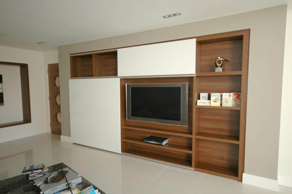 Contemporary Tv Units Spaces Contemporary With Bespoke Tv Unit Inside 2018 Bespoke Tv Cabinets (Image 7 of 20)