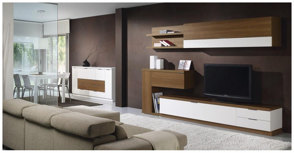 Contemporary Tv Wall Unit / Wooden – L500 : 9510 – Baixmoduls – Videos With Regard To Newest Contemporary Tv Wall Units (View 7 of 20)