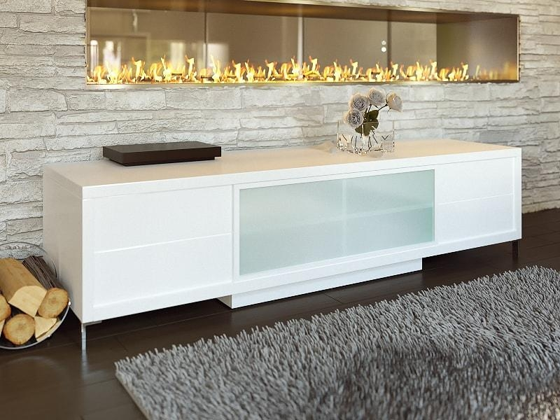 Contemporary White Epopee Tv Stand With Storage Space In Best And Newest Contemporary White Tv Stands (View 3 of 20)