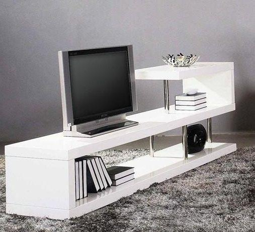 Contemporary White Lacquer Tv Stand Dayton Ohio Vwin5 Throughout Current Contemporary White Tv Stands (View 8 of 20)