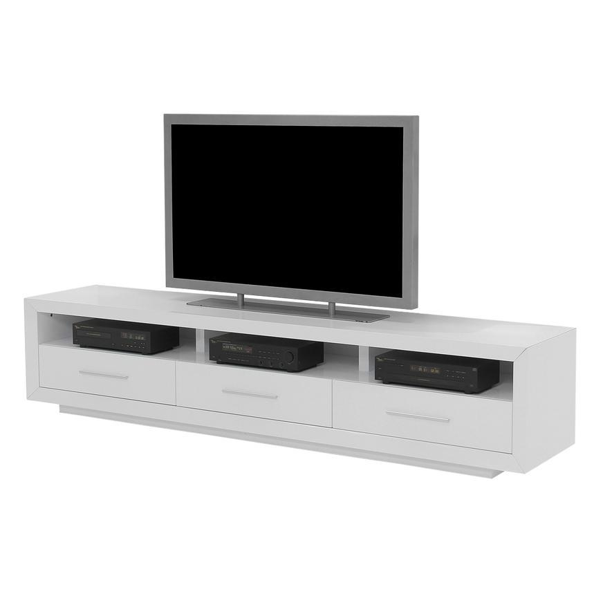 Contour White Tv Stand | El Dorado Furniture Intended For 2018 Long White Tv Stands (Image 5 of 20)