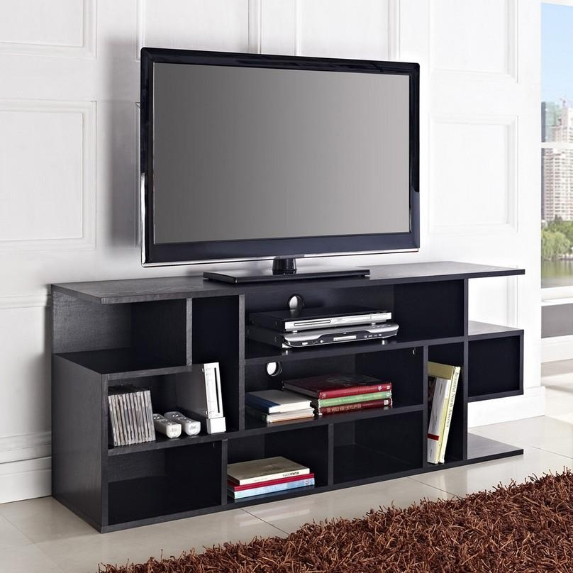 Cool Flat Screen Tv Stands With Mount | Homesfeed For Most Up To Date Wooden Tv Stands For 55 Inch Flat Screen (View 19 of 20)