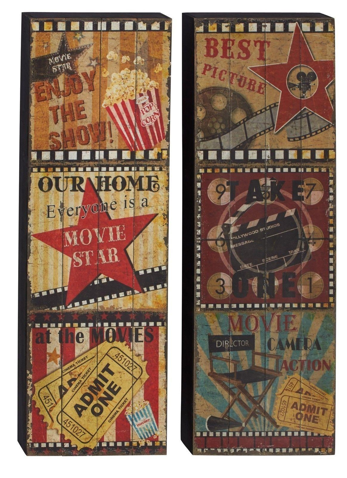 Cool Vintage Movie Wall Decor Panels Hd Printed Beauty Large Movie Pertaining To Movie Themed Wall Art (Image 7 of 20)
