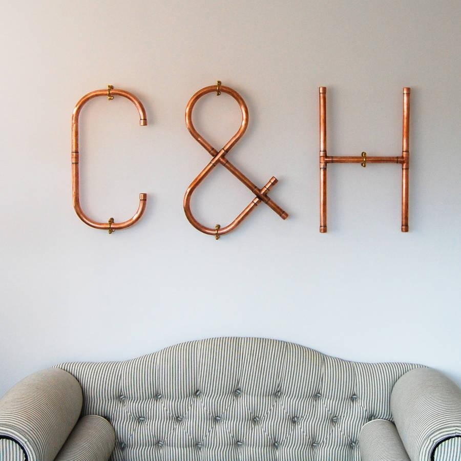 Copper Decorative Letters And Symbols Wall Artcopper & Hall Intended For Decorative Initials Wall Art (View 1 of 20)