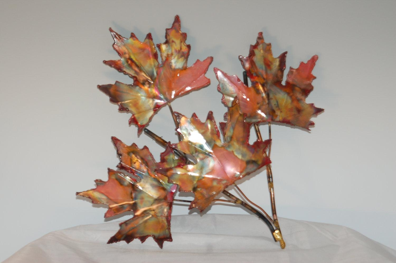 Copper Wall Art In Sculptures, Trees, Accents And Photo Paintings Throughout Copper Wall Art Home Decor (Image 3 of 20)