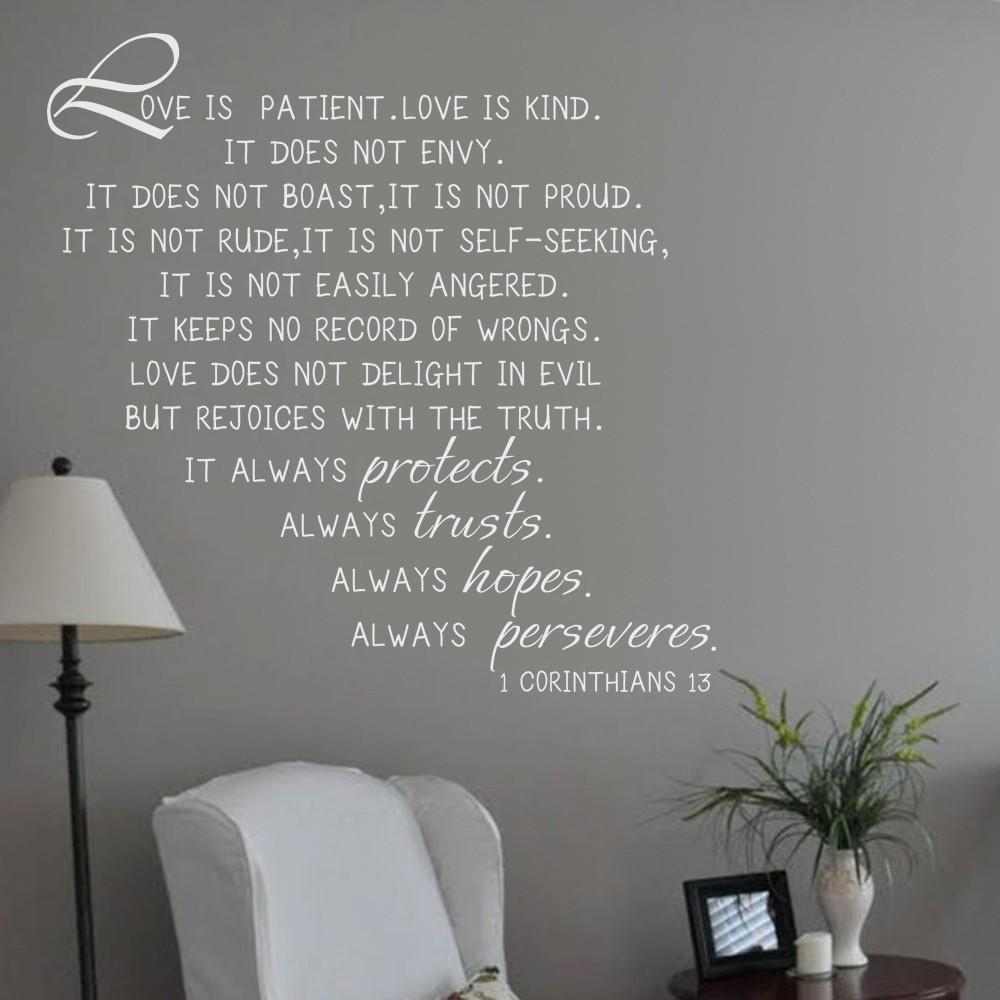 Corinthians 13 Picture – More Detailed Picture About Love Is Within Love Is Patient Love Is Kind Wall Art (Image 7 of 20)