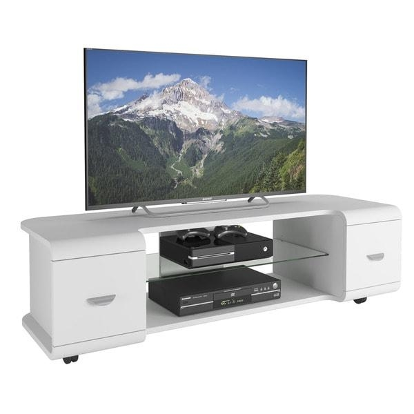 "Corliving Panorama Tv Stand With Casters, For Tvs Up To 65"" – Free In Current Panorama Tv Stands (Image 5 of 20)"