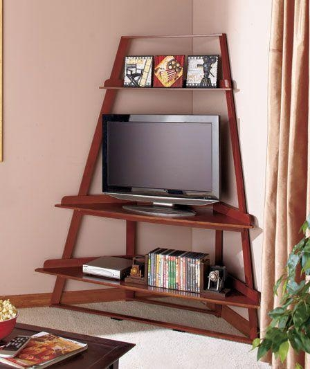 Corner Ladder Tv Stands | Abc Distributing | Diy Projects Within Most Popular Tv Stands For Corners (View 6 of 20)