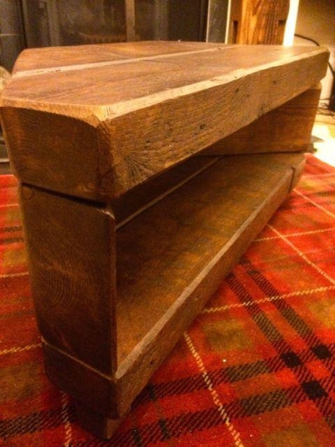Corner Rustic Pine Tv Unit Solid Chunky Wood Stand/cabinet – Dark Inside Most Popular Chunky Oak Tv Unit (View 15 of 20)