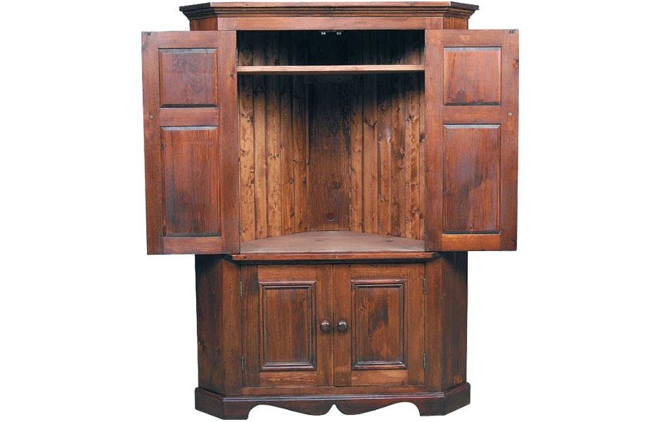 Corner Tv Armoire | Kate Madison Furniture In 2017 Cherry Tv Armoire (Image 10 of 20)