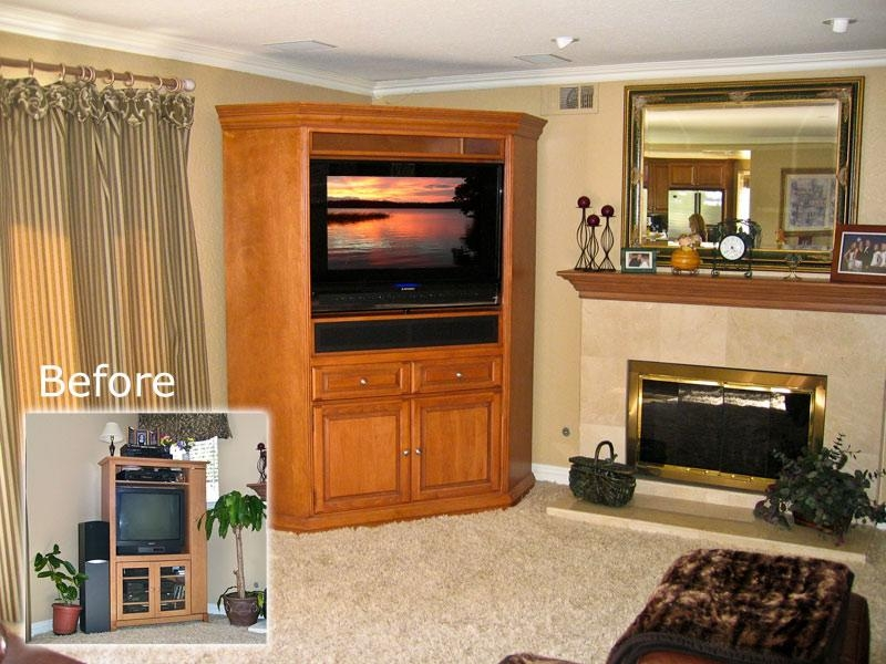 Corner Tv Cabinet C 110 – Armoire For Flat Panel Tv , Sound Bar Within Current Corner Tv Cabinets For Flat Screen (View 2 of 20)