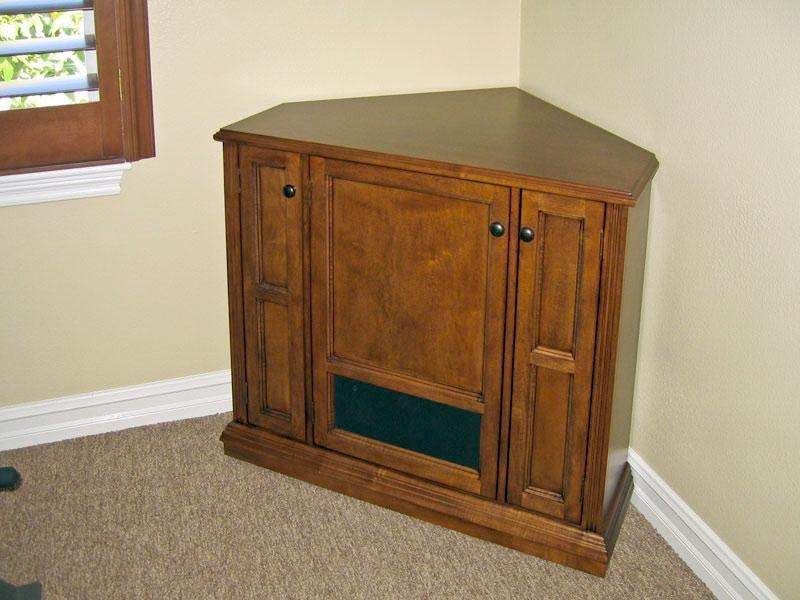 Corner Tv Cabinet C 130 – Corner Tv Stand To Rest Below Wall Intended For Most Recent Corner Tv Stands With Drawers (Image 13 of 20)