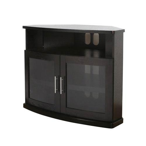 Corner Tv Cabinets Tv Stands And Cabinets | Bellacor With Regard To Most Recently Released Black Wood Corner Tv Stands (View 10 of 20)