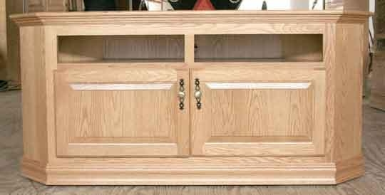 "Corner Tv Stand For 40"" Tv – Clear Creek Furniture, Waynesville In Newest Light Oak Tv Corner Unit (Image 8 of 20)"