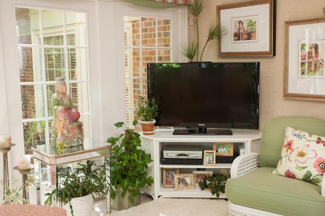 Corner Tv Stand | Houzz Intended For Current Compact Corner Tv Stands (View 13 of 20)