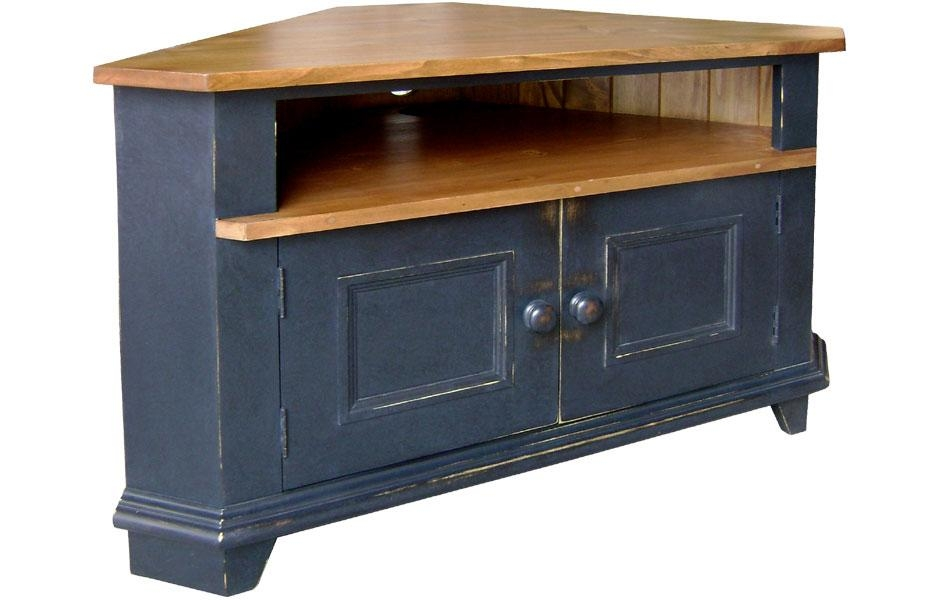 Corner Tv Stand | Kate Madison Furniture Intended For Recent Painted Corner Tv Cabinets (Image 5 of 20)