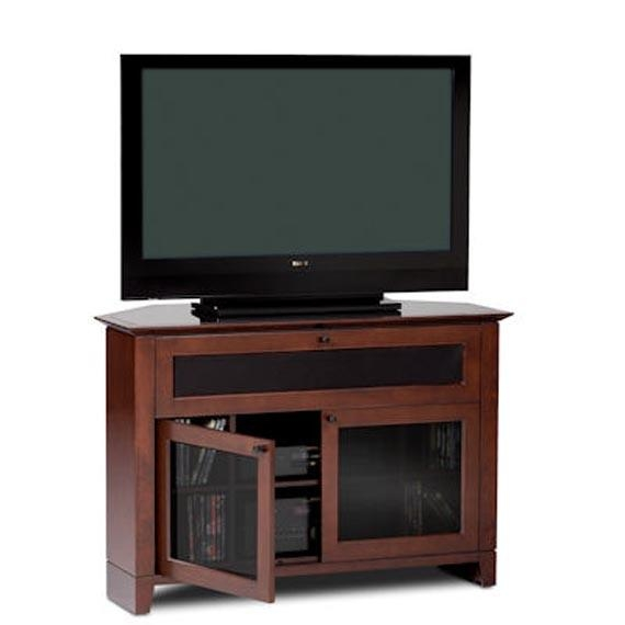 Corner Tv Stands Design Natural Wood Furniture With Glass Doors For Current Corner Tv Cabinets With Glass Doors (Image 9 of 20)