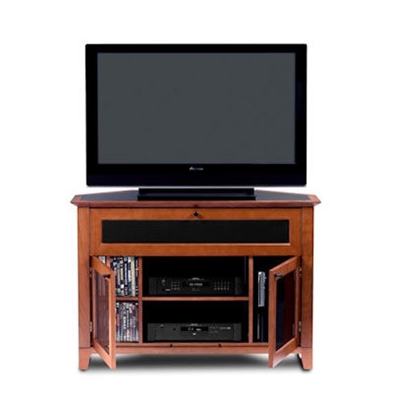 Corner Tv Stands Design Natural Wood Furniture With Glass Doors Inside Most Up To Date Corner Tv Unit With Glass Doors (Image 10 of 20)