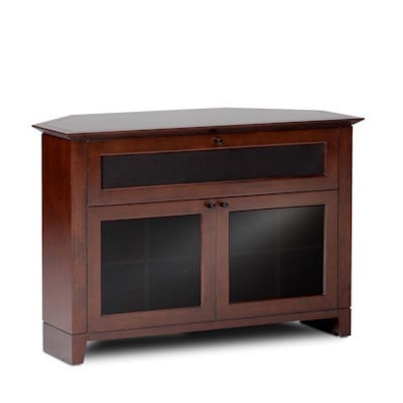 Corner Tv Stands Design Natural Wood Furniture With Glass Doors Intended For 2017 Corner Tv Unit With Glass Doors (View 4 of 20)