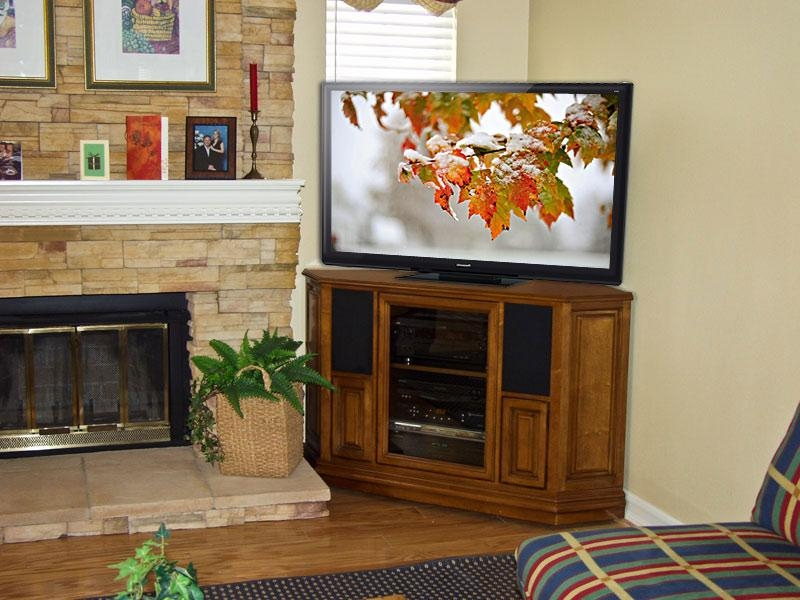 Corner Tv Stands For Flat Screen Tv – Furniture Depot With Regard To Most Current Corner Tv Cabinets For Flat Screen (View 6 of 20)
