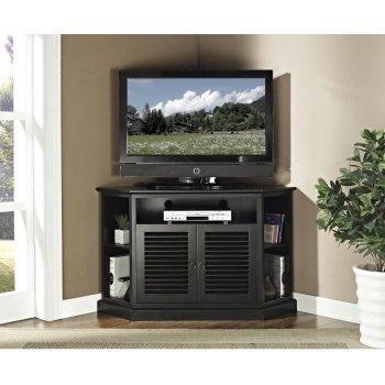 Corner Tv Stands: Top 10 Best Rated Corner Tv Cabinets 2017 Inside Current Black Wood Corner Tv Stands (View 2 of 20)